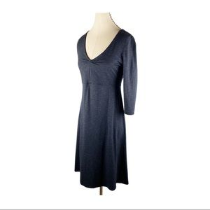Horny Toad  & Co Rosalinda Black 3/4 Sleeve Dress